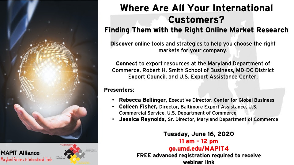 June 16th Webinar: where are all your international customers? Finding Them with the Right Online Market Research